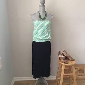 ☀️ ANN TAYLOR LOFT Tube Top - Ocean Blue & Green